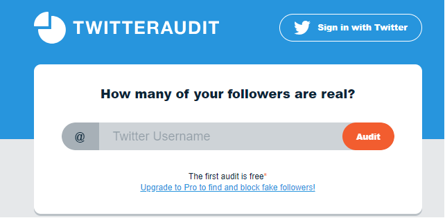 Snapshot from Twitter Audit